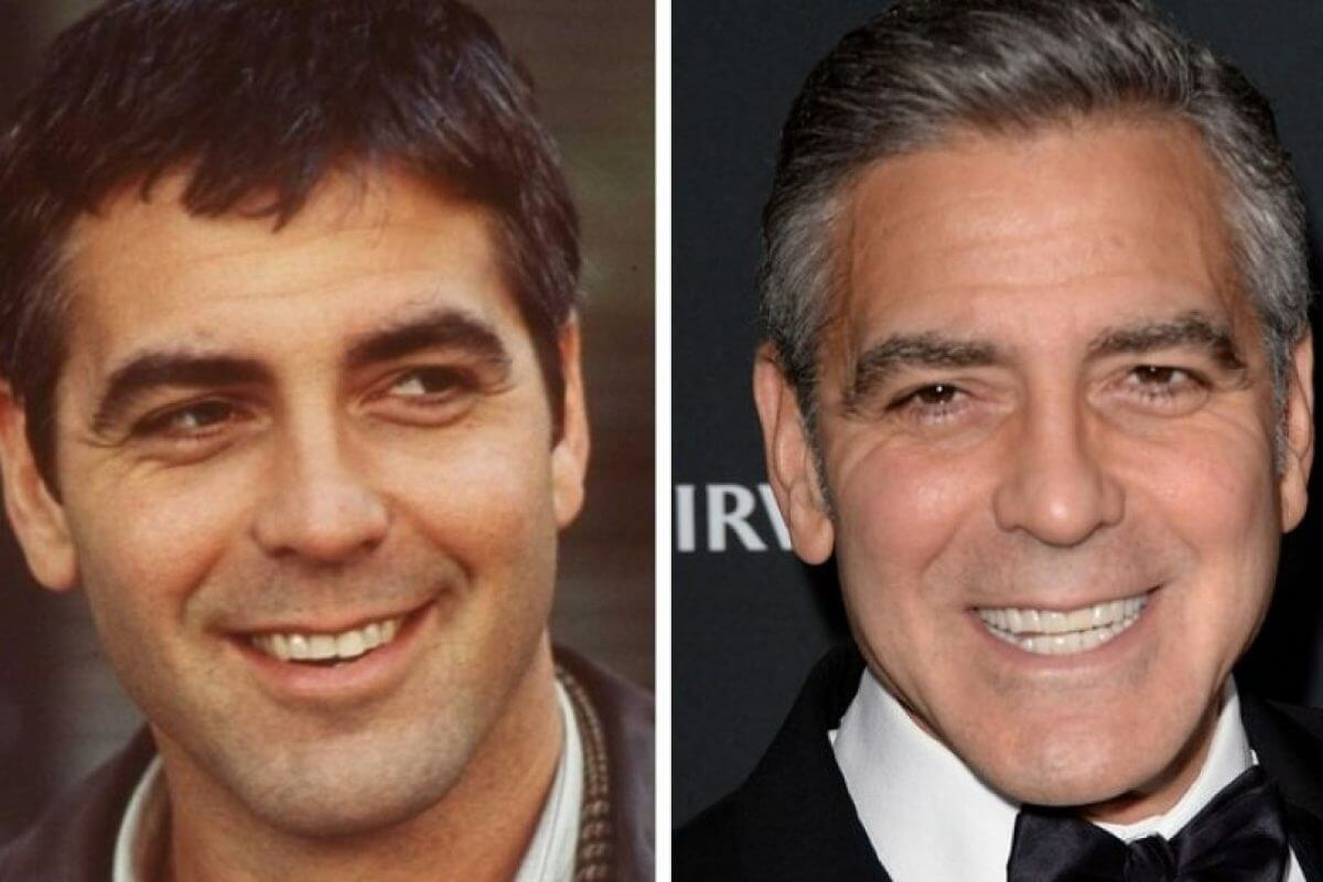 Джордж Клуни до и после