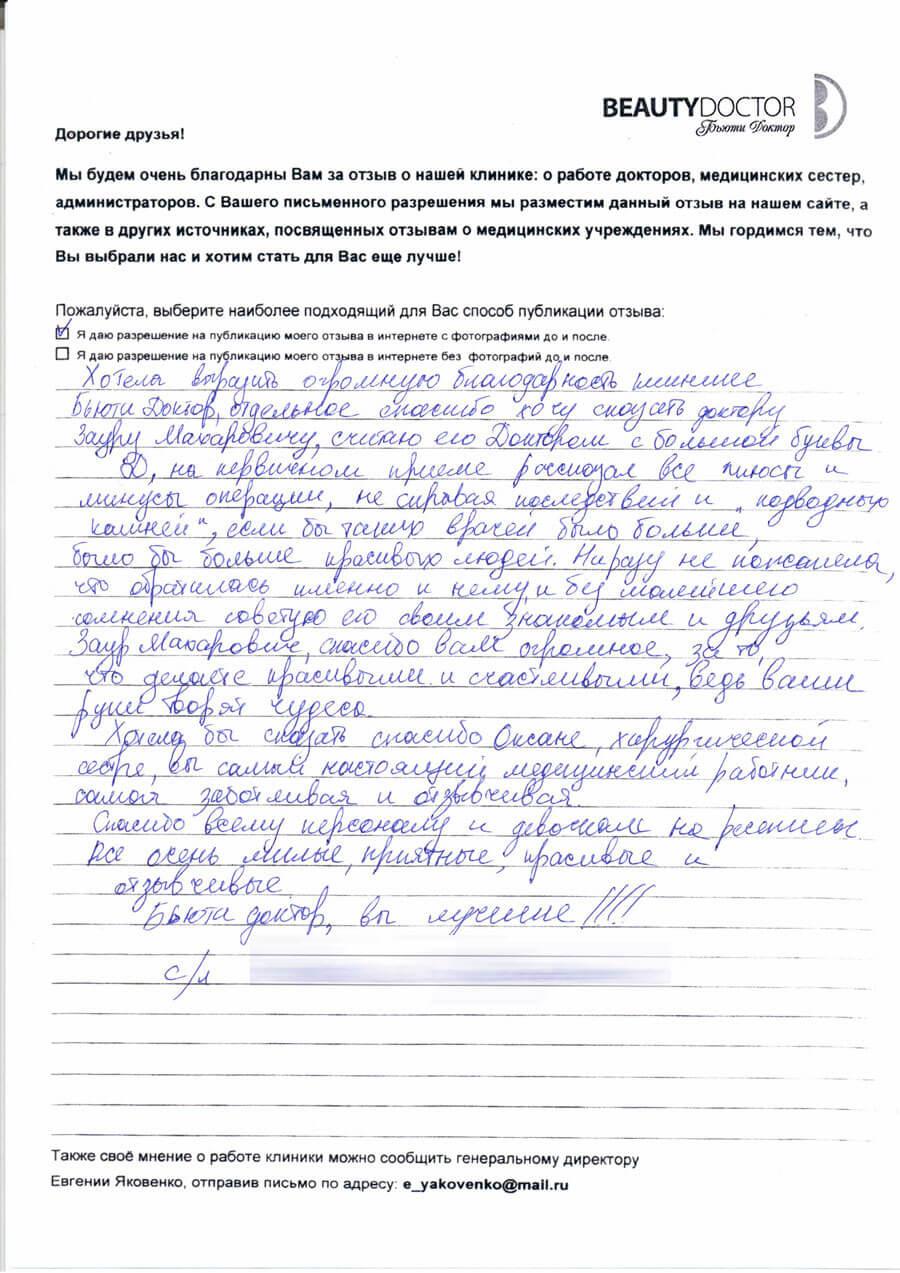Увеличение груди Бытдаев З.М.